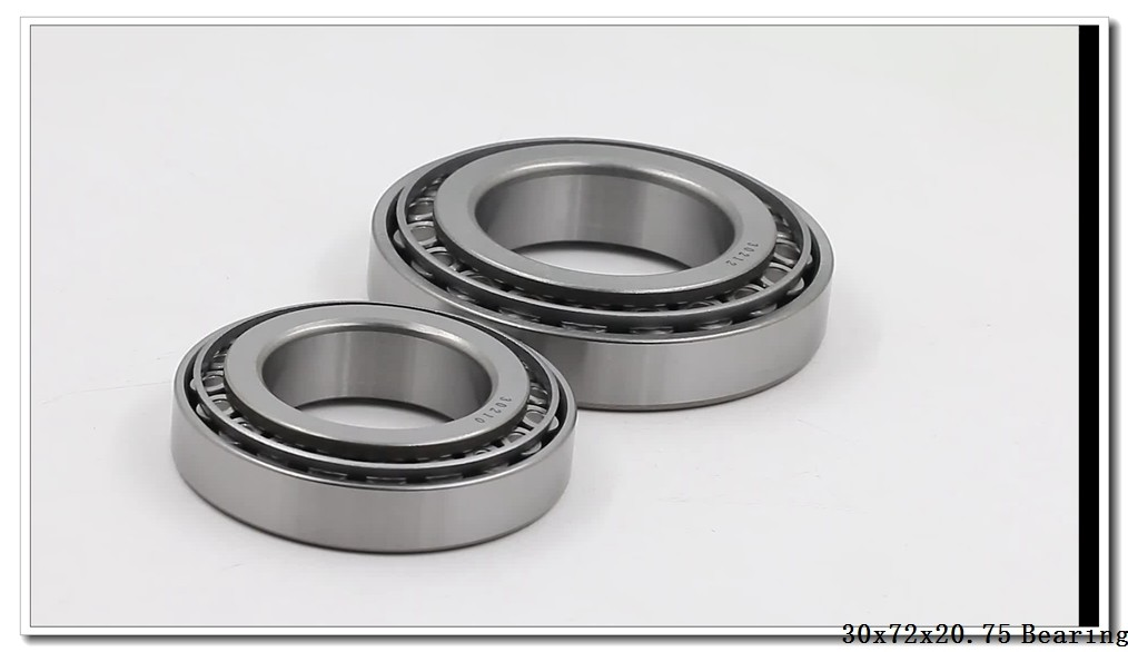 30 mm x 72 mm x 19 mm  NTN 4T-30306D tapered roller bearings