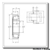 55 mm x 120 mm x 29 mm  NKE 31311 tapered roller bearings