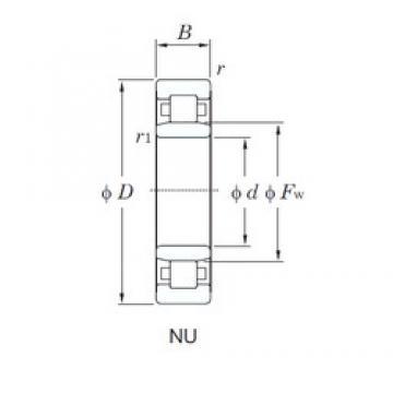 65 mm x 120 mm x 23 mm  KOYO NU213 cylindrical roller bearings