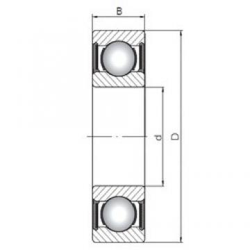 120 mm x 180 mm x 28 mm  ISO 6024-2RS deep groove ball bearings