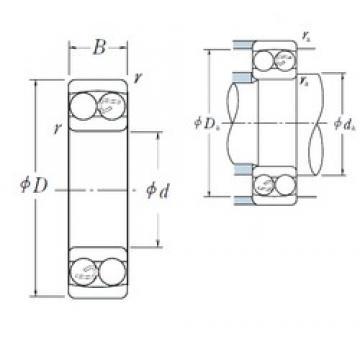 50 mm x 110 mm x 27 mm  NSK 1310 self aligning ball bearings