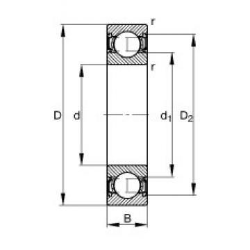 45 mm x 58 mm x 7 mm  FAG 61809-2RSR-Y deep groove ball bearings