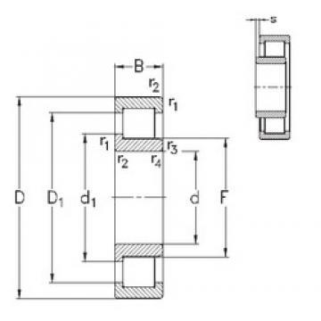 170 mm x 310 mm x 52 mm  NKE NJ234-E-M6 cylindrical roller bearings