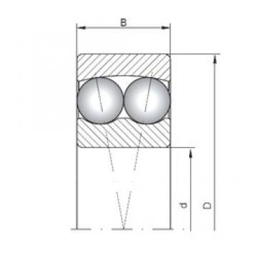 80 mm x 140 mm x 26 mm  ISO 1216 self aligning ball bearings