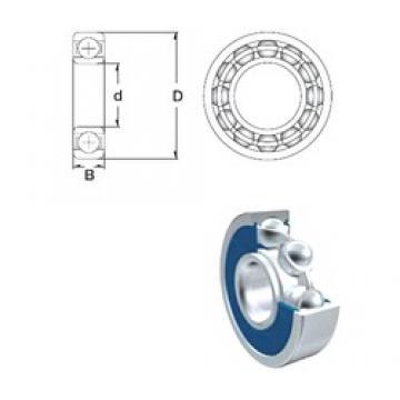 15 mm x 42 mm x 13 mm  ZEN 6302-2RS deep groove ball bearings