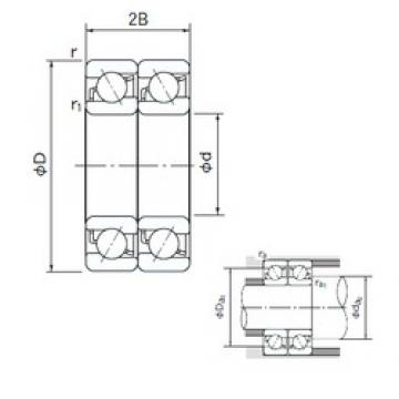65 mm x 120 mm x 23 mm  NACHI 7213CDT angular contact ball bearings