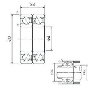 80 mm x 140 mm x 26 mm  NACHI 7216DT angular contact ball bearings