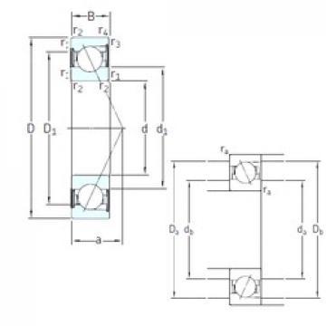 80 mm x 140 mm x 26 mm  SKF SS7216 ACD/P4A angular contact ball bearings