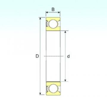 15 mm x 42 mm x 13 mm  ISB 6302-Z deep groove ball bearings