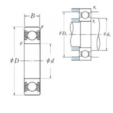 45 mm x 58 mm x 7 mm  NSK 6809VV deep groove ball bearings
