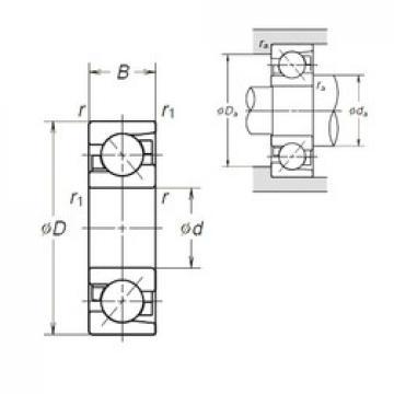 65 mm x 120 mm x 23 mm  NSK 7213BEA angular contact ball bearings