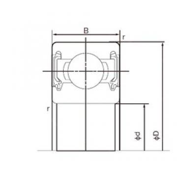 45 mm x 58 mm x 7 mm  NACHI 6809-2NKE deep groove ball bearings