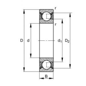 45 mm x 58 mm x 7 mm  FAG 61809-2Z-Y deep groove ball bearings