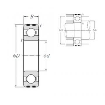 15 mm x 42 mm x 13 mm  NTN EC-6302 deep groove ball bearings