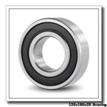 120 mm x 180 mm x 28 mm  KOYO 3NCHAR024 angular contact ball bearings