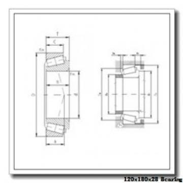 120 mm x 180 mm x 28 mm  NACHI 7024DT angular contact ball bearings