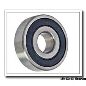 15 mm x 42 mm x 13 mm  ISO 6302 deep groove ball bearings