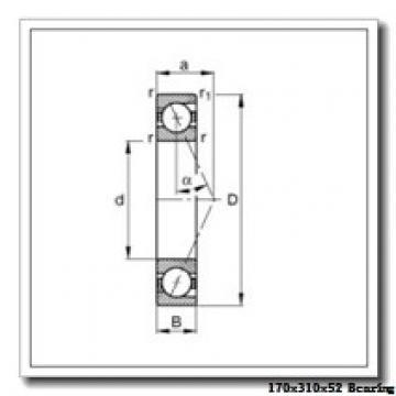 170 mm x 310 mm x 52 mm  ISB 7234 B angular contact ball bearings