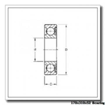 170 mm x 310 mm x 52 mm  NTN 7234DF angular contact ball bearings