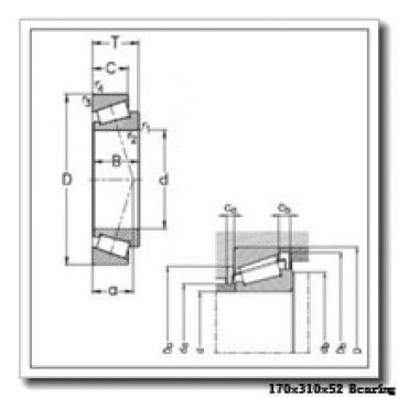170 mm x 310 mm x 52 mm  NTN 7234BDB angular contact ball bearings