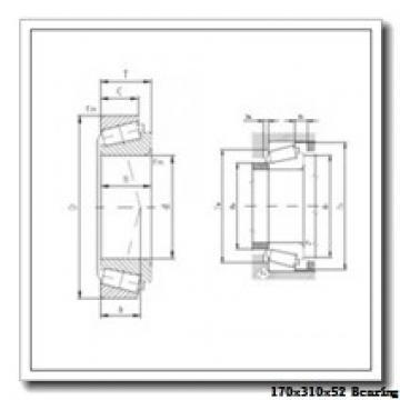 170 mm x 310 mm x 52 mm  NTN 7234DB angular contact ball bearings