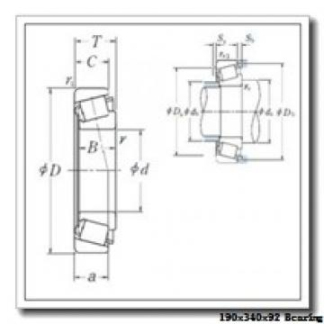 190 mm x 340 mm x 92 mm  ISO NJ2238 cylindrical roller bearings