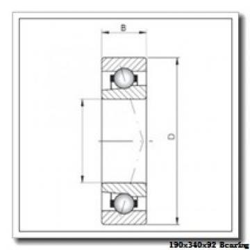 190 mm x 340 mm x 92 mm  NACHI 22238E cylindrical roller bearings