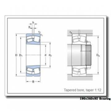 190 mm x 340 mm x 92 mm  ISO NCF2238 V cylindrical roller bearings