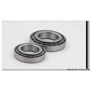30 mm x 72 mm x 19 mm  NTN 30306 tapered roller bearings