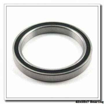 45 mm x 58 mm x 7 mm  NTN 5S-7809CG/GNP42 angular contact ball bearings