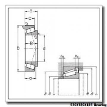 530 mm x 780 mm x 185 mm  NACHI 230/530EK cylindrical roller bearings