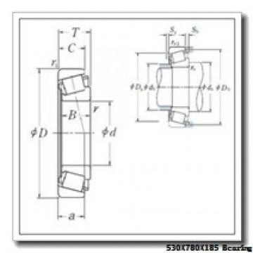 530 mm x 780 mm x 185 mm  Loyal 230/530 KCW33+H30/530 spherical roller bearings