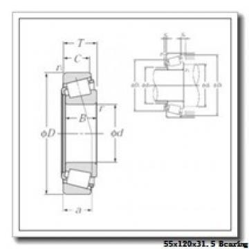 55 mm x 120 mm x 29 mm  NACHI E30311DJ tapered roller bearings