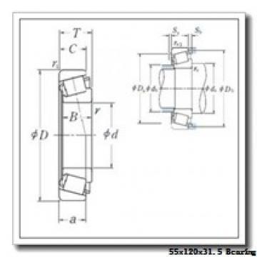 55 mm x 120 mm x 29 mm  KBC 30311J tapered roller bearings