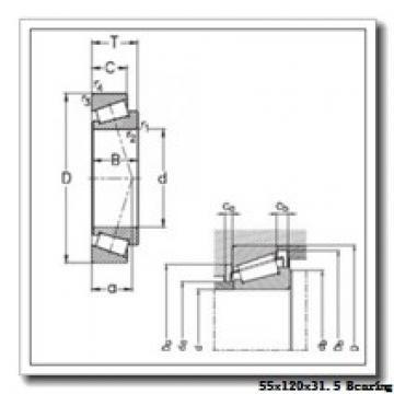 55 mm x 120 mm x 29 mm  KBC 30311DJ tapered roller bearings