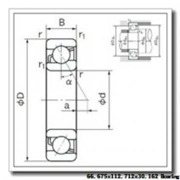 66,675 mm x 112,712 mm x 30,162 mm  KOYO 39590/39521 tapered roller bearings