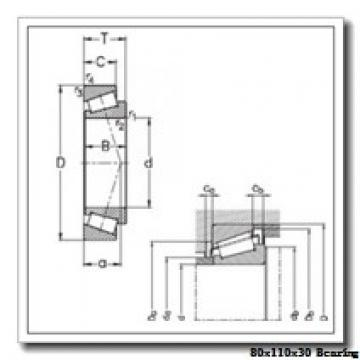 80 mm x 110 mm x 30 mm  IKO NAU 4916UU cylindrical roller bearings
