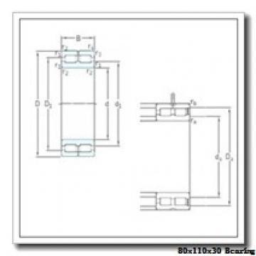 80 mm x 110 mm x 30 mm  IKO NAF 8011030 needle roller bearings