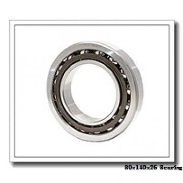80 mm x 140 mm x 26 mm  NACHI 7216CDB angular contact ball bearings
