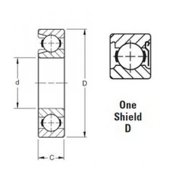 80 mm x 140 mm x 26 mm  Timken 216WD deep groove ball bearings