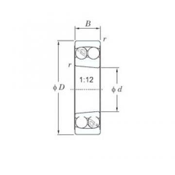 80 mm x 140 mm x 26 mm  KOYO 1216K self aligning ball bearings