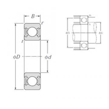 15 mm x 42 mm x 13 mm  NTN 6302LLH deep groove ball bearings