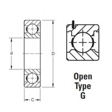 50 mm x 110 mm x 27 mm  Timken 310KG deep groove ball bearings