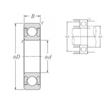 45 mm x 58 mm x 7 mm  NTN 6809ZZ deep groove ball bearings