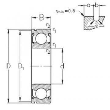 65 mm x 120 mm x 23 mm  NKE 6213-2Z-N deep groove ball bearings