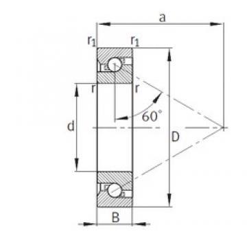50 mm x 110 mm x 27 mm  FAG 7603050-TVP thrust ball bearings