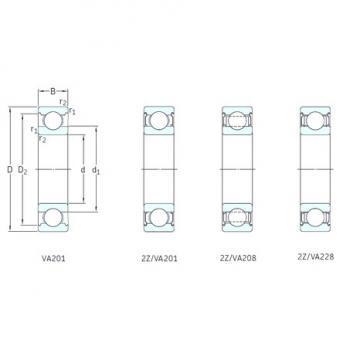 50 mm x 110 mm x 27 mm  SKF 6310-2Z/VA201 deep groove ball bearings