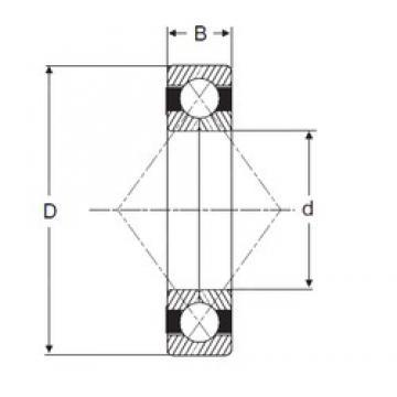 65 mm x 120 mm x 23 mm  SIGMA QJ 213 angular contact ball bearings