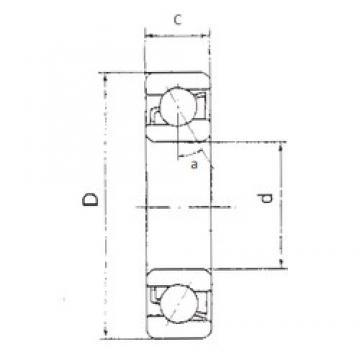 15 mm x 42 mm x 13 mm  FBJ 7302B angular contact ball bearings