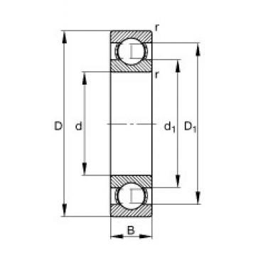 15 mm x 42 mm x 13 mm  FAG 6302 deep groove ball bearings